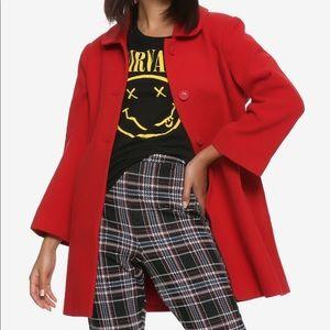 Rare, Hot Topic red Sabrina coat. XXL Juniors.